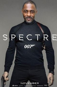 A fan-made poster of Elba as James Bond.