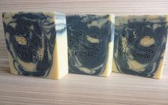 Goat's milk Soap BAR with CHARCOAL and tea tree essential oil, Charcoal soap bar