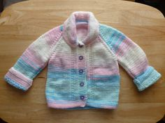 Hand Knitted Vintage Style Cardigan / Jacket