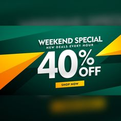 Green and yellow discount voucher Free Vector