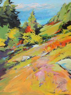 Artist: Charlie Easton, Title: Warm Slope To Howe Sound - click on image to enlarge