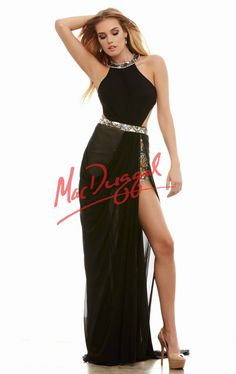Embellished Pleated Gown by Mac Duggal 82381A by Cassandra Stone