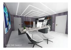 New Modern Kollektion - Nise The Family Office Interior Design, Office Interiors, White Mirror, Walls, Ceiling, Rooms, 3d, Modern, Furniture