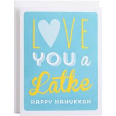 Feel the love for latkes this Hanukkah with a fun card like this!<br><br>Single card with white envelope. Hanukkah Crafts, Hannukah, Happy Hanukkah, Christmas Card Sayings, Christmas Cards, Christmas Ideas, Holiday Cards, Holiday Gifts, Paper Source