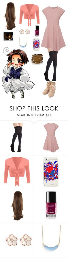 """""""Hetalia: Daughter of South Korea"""" by ender1027 ❤ liked on Polyvore featuring TIBI, WearAll, Casetify, Chanel, Shaun Leane, Alexis Bittar and Sif Jakobs Jewellery"""