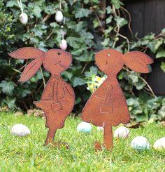 Gartendeko Figuren, 24 besten rost deko garten figuren edelrost eisen bilder auf, Design ideen