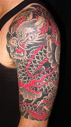 half sleeve dragon tattoos - Google Search