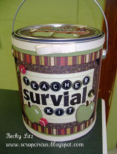 Teacher survival kit: i'm definitely making this for my colleagues at work this year!
