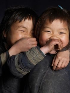 One whisper, two giggles, big smiles make for more ....