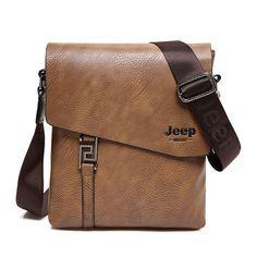 4cc92f188b27 JEEP BULUO Fashion Men Bags Waterproof Cow Split Leather Messenger Bag  Business Briefcase Crossbody Bags Male Shoulder Bag 5846