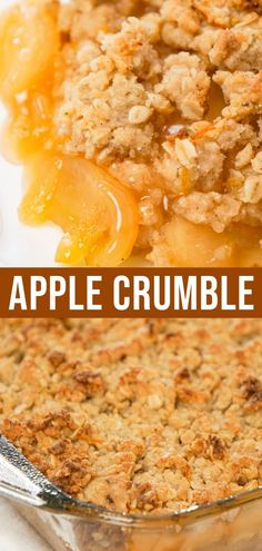 Apple Crumble is a delicious fruit dessert with a base of apple pie filling with a crunchy crumble topping with hints of citrus and cinnamon. Best Apple Recipes, Best Dessert Recipes, Fun Desserts, Fruit Dessert, Sweets Recipes, Peanut Butter Cup Cheesecake, Peanut Butter Desserts, Crumble Recipe, Crumble Topping