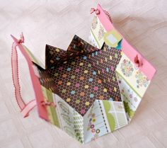 Paper gift bag/purse made from a 12x12 sheet of paper