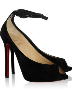 b8b7ae16e79 Ankle strap peep toe sandals -Rampol 120 suede pumps by Christian Louboutin