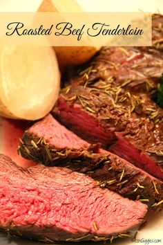 Roasted Beef Tenderloin -  Uses a super simple marinade to make a delicious, melt-in-your-mouth tenderloin. {BitznGiggles.com}
