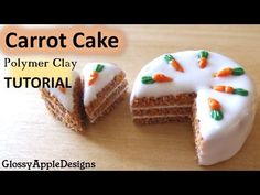 TUTORIAL: How To Make A Confetti Cake & Cupcake Charm Out Of Polymer Clay - YouTube