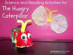 Here are some great activities to help explore Science and Reading using the book The Hungry Caterpillar