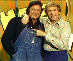 Hee Haw Buck Owens and Johnny Cash. MY DAD WATCHED EVERY SATURDAY NIGHT IN THE 70'S