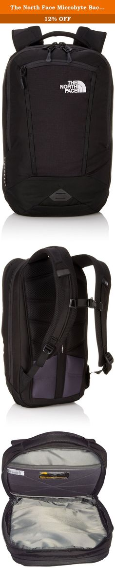 """The North Face Microbyte Backpack, Tnf Black, One Size. Streamline your subway, bus or bike commute with this compact 17-liter daypack that features a 13"""" laptop lie-flat compartment that's TSA-approved, a front compartment with an organization panel and a fleece-lined exterior pocket that holds sunglasses or small electronics. Features 17-liter backpack is compact, yet packed with features The FlexVentTM suspension system boasts custom injection-molded shoulder straps, a padded mesh back..."""
