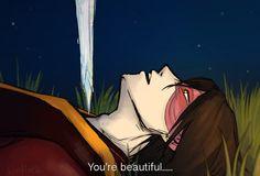 "te-al-latte: ""I couldn't help it, I needed to draw them in the iconic Princess Mononoke scene. Avatar The Last Airbender Funny, The Last Avatar, Avatar Funny, Avatar Airbender, Katara Y Zuko, Avatar Zuko, Team Avatar, Azula, Prince Zuko"