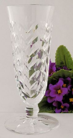 Vintage Waterford Crystal Footed Vase, Shop Rubylane,com
