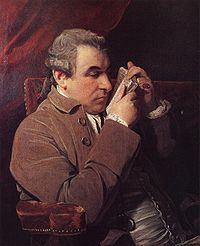Giuseppe Baretti, door Joshua Reynolds