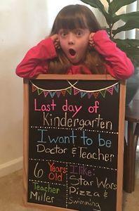 Last Day of School Chalkboard | eBay