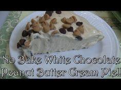 No Bake White Chocolate Peanut Butter Cream Pie!! Noreen's Kitchen