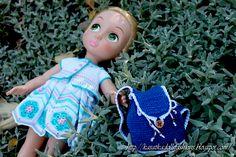 Doll Clothes & Bag / Disney Animator Doll Rapunzel / Crochet
