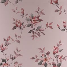 Clemmie Rose Red Floral Wallpaper - Pink Flower Wall Coverings by Graham  Brown