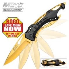 MTech USA Gold Ballistic Assisted Opening BOGO