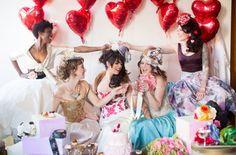 50 Bridal Shower Theme Ideas: Little Black Dress Photo by Amy Carroll via Green Wedding Shoes