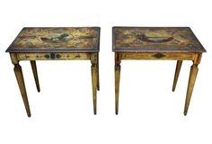 Italian  Painted Tables, Pair
