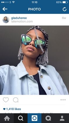 27 Best Stacked Bob Hairstyles of 2019 - Style My Hairs Bob Box Braids Styles, Box Braids Bob, Box Braid Hair, Short Box Braids, Braid Styles, Curly Hair Styles, Natural Hair Styles, Stacked Bob Hairstyles, Box Braids Hairstyles