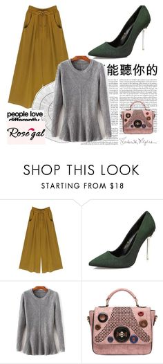 """""""#ROSEGAL II/43"""" by eminajamakovic ❤ liked on Polyvore featuring Cyan Design and Kenzie"""