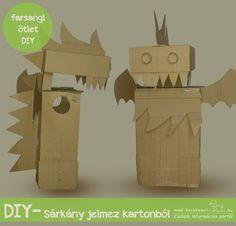 Sárkány jelmez kartonból | kecskemet.imami.hu Diy, Paper Board, Bricolage, Do It Yourself, Homemade, Diys, Crafting