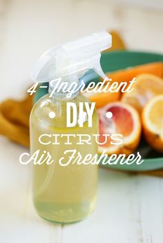 A simple 4-ingredient citrus air freshener anyone can make! This easy DIY Citrus Air Freshener deodorizes, disinfects, and leaves your home smelling AMAZING!