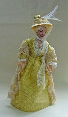 Bennet from Pride & Prejudice seeking husbands for her daughters Dollhouse Dolls, Miniature Dolls, Dollhouse Miniatures, Literary Characters, Barbie, Dolls For Sale, Pride And Prejudice, Miniture Things, Little People