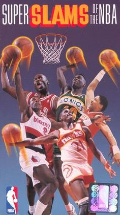 Super Slams of the NBA, featuring Michael Jordan, Clyde Drexler, Shaun Kemp, Dominique Wilkins and the one and only Julius Irving. Not shown here is the master blaster, Darryl Dawkins.