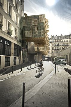 AME-LOT / Malka Architecture... Student housing in Paris made of pallets! WOW!