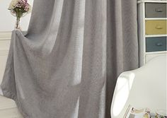 Grey Chenille Blackout Curtain Custom Drapery( Grommets top). Add simple elegance to your decor with this beautiful curtain panel. This curtains have good blackout and insulation effect. Fabric of this curtain: Chenille. ♥ Please request a custom order or send me a message if you cannot find the fitted size from the option list. ♥ These elegant panels come with matching tie-backs, which allow you to let in as much light as you want on sunny days. ♥ This curtain by default is not lined and...