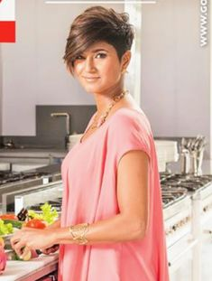 KAMINI PATHER Cute Haircuts, Cute Hairstyles For Short Hair, Short Haircuts, Asymmetrical Pixie, Short Pixie, Pixie Cut, Woman Hairstyles, Pixie Hairstyles, Pixie Haircut