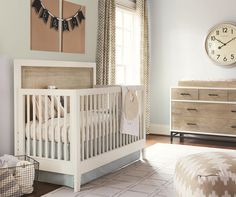 Great style starts at any age. This convertible crib has classic slats and block feet that highlight clean lines. The two tone finish gives the crib a more modern feel that's still warm and welcoming. Designed with growing children in mind, this convertible crib will actually grow with your child, converting from a crib into a toddler bed or daybed. You can also pair the crib headboard with a metal frame (sold separately) to transform the crib into a full size bed when your child grows u...
