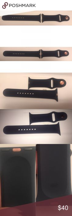 Apple Watch 42mm Series 2 Sport Band Brand new with out tags or original box Apple Watch 42mm Series 2 Sport Band in the color Midnight Blue with rose gold accents. M/L- Band fits wrist sizes 140-210mm. Came with my Apple Watch, bought a band in a different color so I never used this one. Apple Accessories Watches