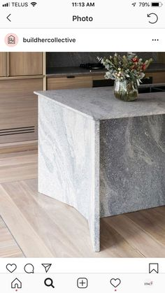 Chamfered edge details to the Pacifico granite island bench. Home Design, Küchen Design, Interior Design Kitchen, Kitchen Decor, Kitchen Worktop, Kitchen Countertops, Granite Kitchen, Marble Countertops, Kitchen Island