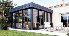france modern sunroom ideas with veranda Cedar Pergola, Pergola With Roof, Pergola Shade, Pergola Kits, Gazebo, Pergola Ideas, Extension Veranda, House Extension Design, Roof Extension