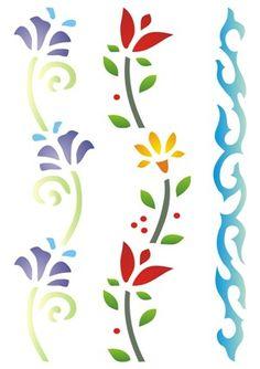 Tambour Embroidery, Folk Embroidery, Machine Embroidery, Fabric Paint Designs, Stencil Designs, Stencil Art, Stencils, Arabesque, Gel Pen Art