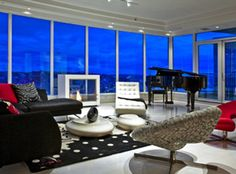 The Great Room. Escala Tower, Fifty Shades of Grey