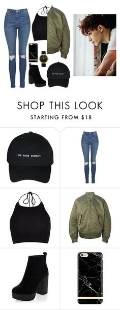 """""""Supporting JB at his concert"""" by got7outfits ❤ liked on Polyvore featuring Topshop, River Island, adidas Originals and New Look"""