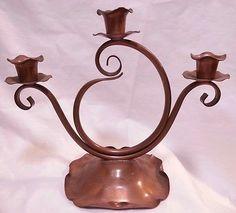 Vintage Gregorian Copper Metalware Candlestick Holder Made in USA