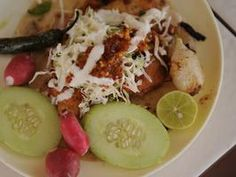 El Rey's Fish Tacos: unfried  fish tacos with terrific sauces
